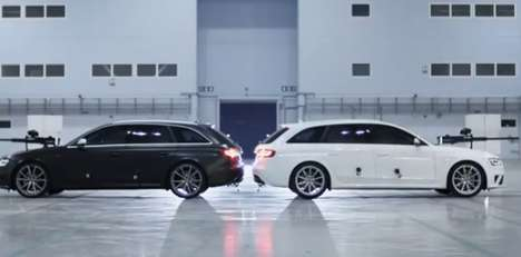 Two Audi 'RS 4 Avant' Cars Go Head to Head in a Competitive Commercial