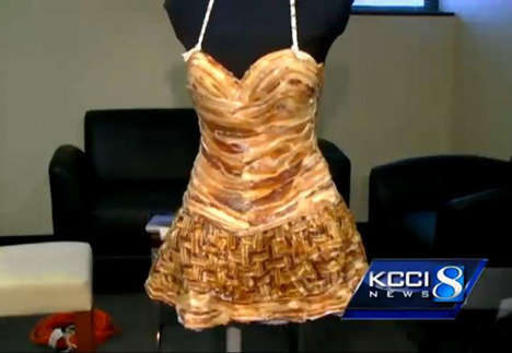 Real-Life Bacon Frocks - This Dress Made of Bacon Stole the Show at the Blue Ribbon Bacon Festival