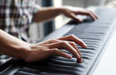 Continuous Skin Pianos - Create Musical Fusion with the Seaboard Keyboard's Soft Rippled Surface