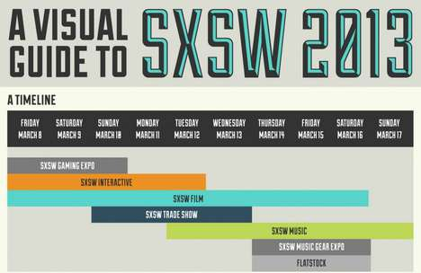 This SXSW 2013 Schedule Infographic is an Easy-to-Read Chart