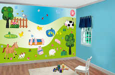 Vibrant Nursery Decor Stickers - Create a Fun Atmosphere for Infants with Baby Room Wall Decals