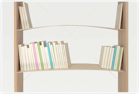 Brilliant Bending Bookcases