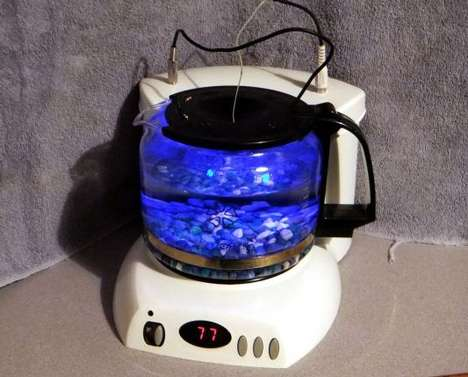 Upcycled Coffee Pot Aquariums
