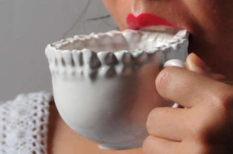 Terrifying Teeth-Shaped Mugs