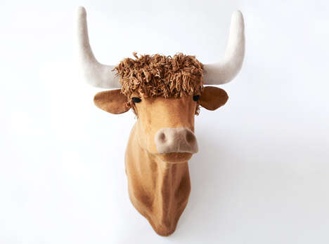 Handmade Knitted Taxidermy - Jessica Dance Created These Beautiful Wool Animal Heads