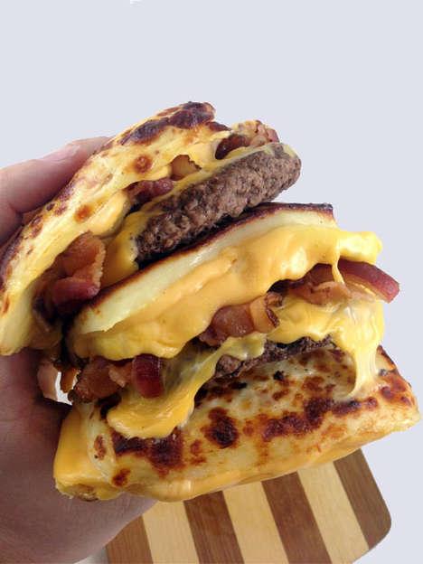 Heart-Stopping Bunless Burgers