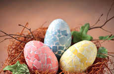 Colorfully Cracked Easter Eggs - These DIY Mosaic Eggs are Great for Your Easter Decorations