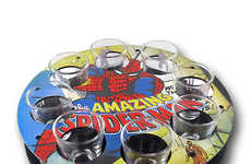 Superhero Shooter Sets - These Spider Man Shot Glasses are Perfect for Any Comic Book Fan