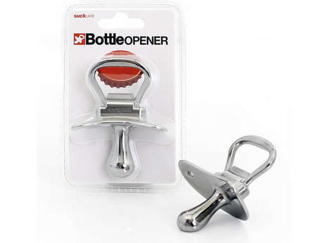 Ironic Pacifier Alcohol Openers