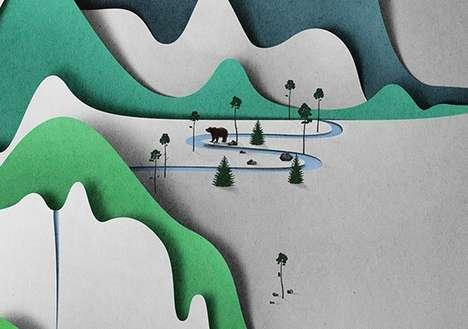 Vertical Papercraft Scenery