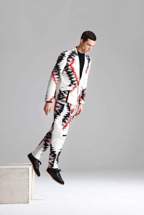 Blended Abstract Menswear - The Henrik Vibskov 2013 S/S Collection is Eccentric & Wearable