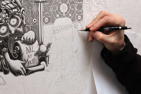 Intricately Inked Walls
