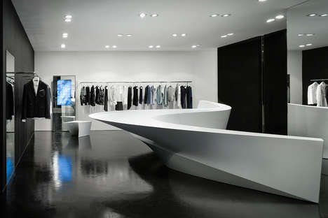 Minimalist Geometric Shops - The Neil Barrett Shop Designed by Zaha Hadid Architects is Stunning