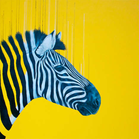 Vibrantly Fluorescent Animal Illustrations