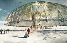 Eco-Friendly Storm Shelters - The Polar Umbrella is a Stunning Shelter for Ecological Storm