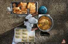 Aerial Food Photo Ads - The Festival International de la Photographie Culinaire Campaign is Tasty