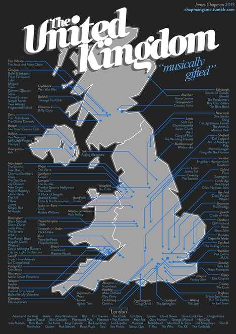 British Rock Band Maps