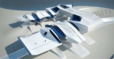 Aircraft-Inspired Crematoria - Vermilion Sands is a Futuristic Launch Pad for the Recently Deceased