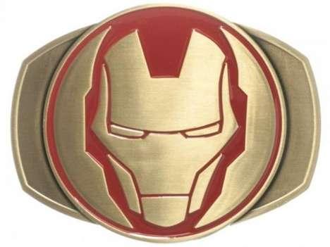 Sleek Superhero Belt Buckles