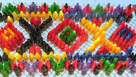 Colorful Communal Salvaged Artwork