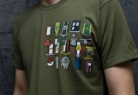 Geeky Military Medal Tees