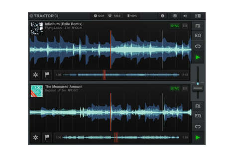 DJ iPad Apps - The Traktor DJ App By Native Instruments Allows You to Customize Tracks