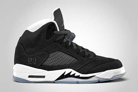 Retro Monochromatic Kicks - The 2013 Nike Air Jordan 5 Retro 'Oreo' Sneakers are Sick