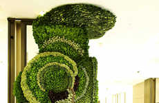 Living Art Installations - This Plant Artwork Combines Consumerism and Wildlife