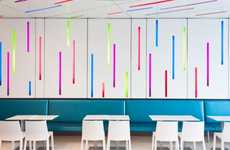 Color-Burst Confection Cafes - The Fritzy's a Frozen Yogurt and Bulk Candy Shop is Boldly Vibrant