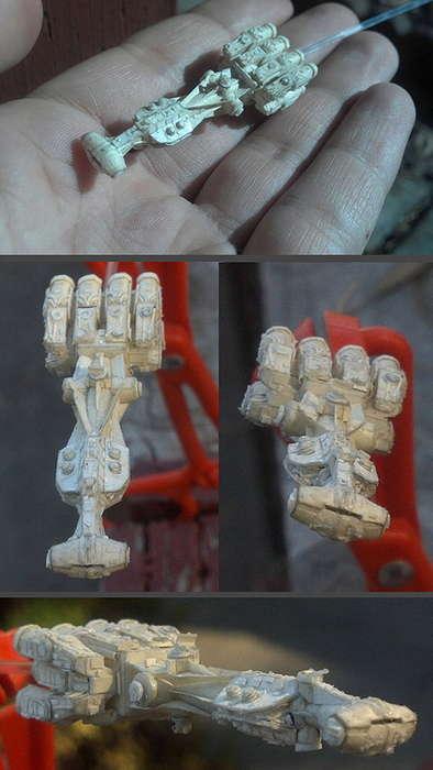Miniature Millennium Falcon Art