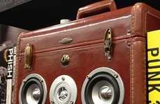 Retro Suitcase-Shaped Speakers - The Suitcase Speakerbox is an Ode to Old School Luggages