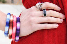DIY Rope-Made Bracelets - These Colorful Bangles are Easily Constructed from Items Around Your Home