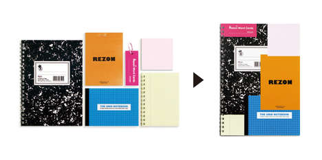 Collaged Stationary Books - The Rezon Multi Notebook Melds Popular Stationary