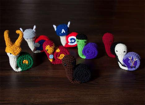 Adorable Comic Snail Plushies