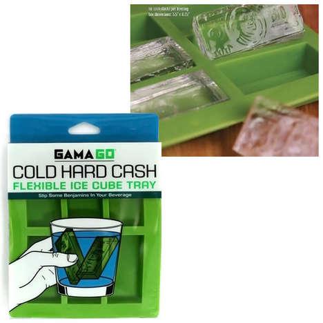Cash-Shaped Ice Cubes