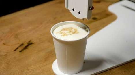 Robot-Drawn Latte Portraits