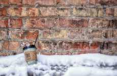 Abandoned Coffee Cup Captures  - This Charming Project by Howard Jackman Features Left Behind Cups