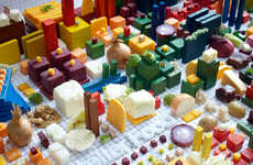 Edible City Maps - The Atelier Food Project by PJADAD Design is Made from Groceries
