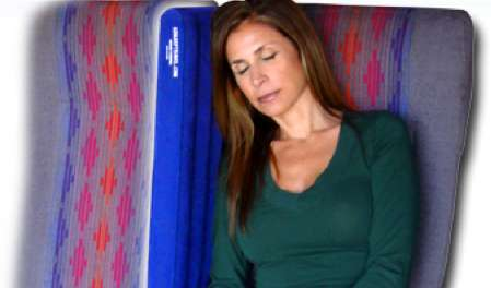 Inflatable Inflight Partitions - The EZ Sleep Travel Pillow Maximizes Comfort and Privacy on Planes