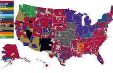 Facebook Fandom Graphs - The NCAA Men's Basketball Map Draws Information from Social Media
