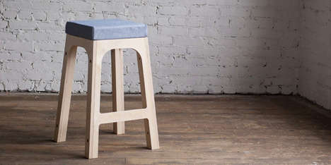 Interchangeably Capped Chairs - The 2nd Shift Studio Stool Has Versatility Like Few Simple Seats Do