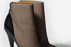 Faux Fishnet Pumps