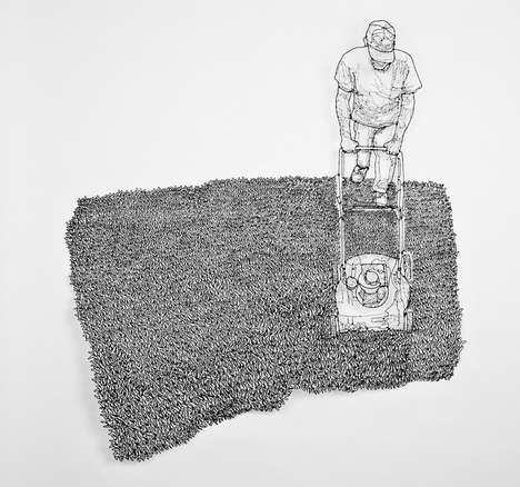Whimsical Wire-Made Drawings