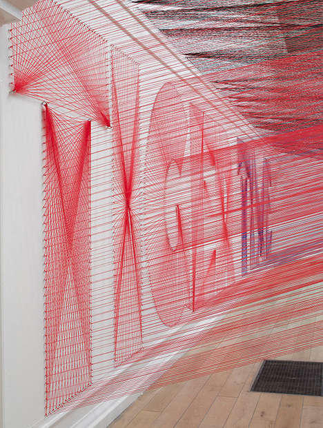 Californian Artist Pae White Makes Intricate Thread Networks