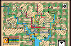 Gamer Recreated Transit Maps - Dave Delisle Recreates Washington's Metro Sytem as a Mario Map