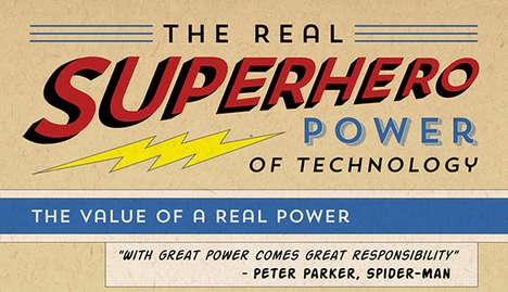 Realistic Super Power Infographics