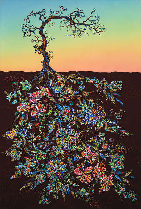 Vibrant Tree Root Illustrations