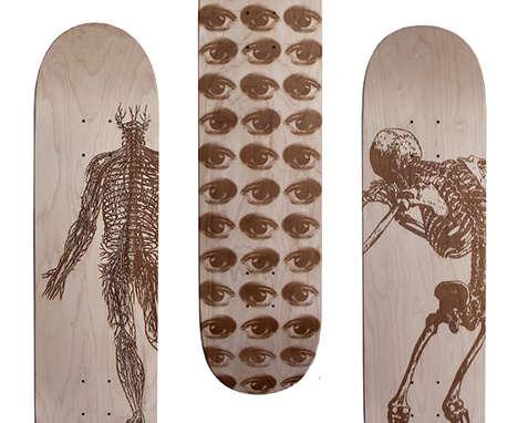 Ornately Laser-Etched Skate Decks