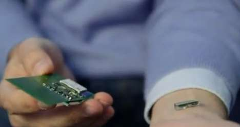Blood-Monitoring Bluetooth Devices - The Fitbit Chip Goes Under the Skin to Track Health Records