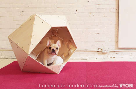 Geoform DIY Doghouses - The HomeMade Modern Geometric Bed Promises Surprisingly Simple Construction